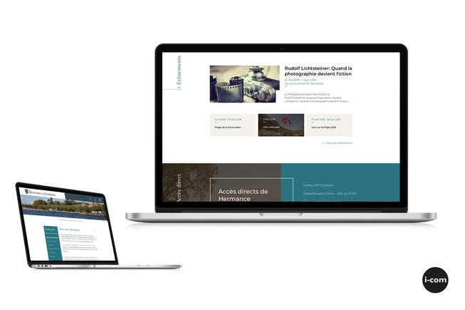 La nouvelle présentation du site d\'Hermance