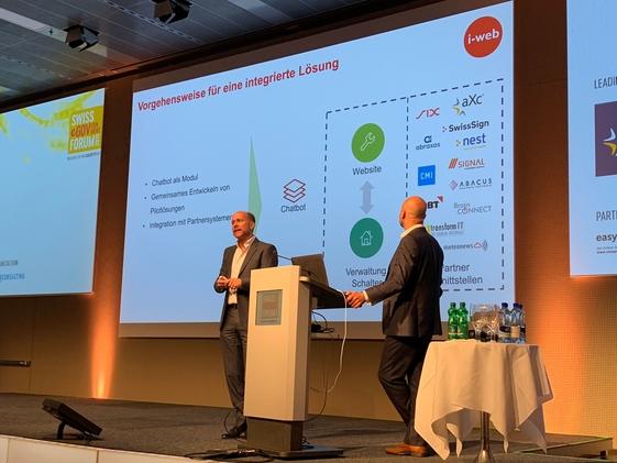 Aperçu de la présentation à Berne lors des infosocietydays 2019