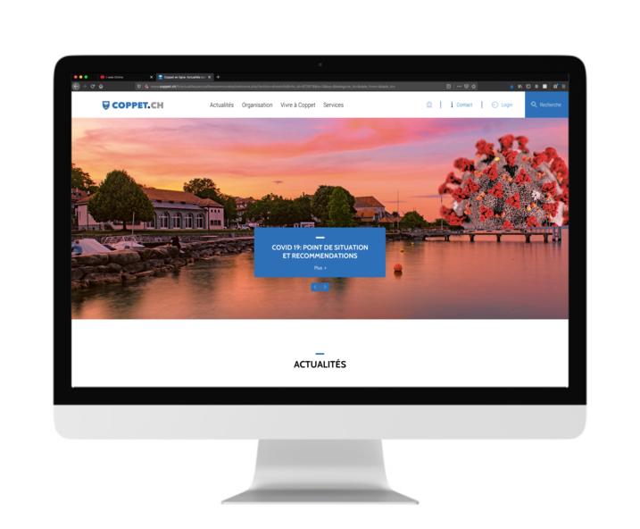 Aperçu de la page d\'accueil du site internet de Coppet